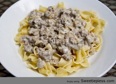 Lemon & Thyme Turkey Stroganoff