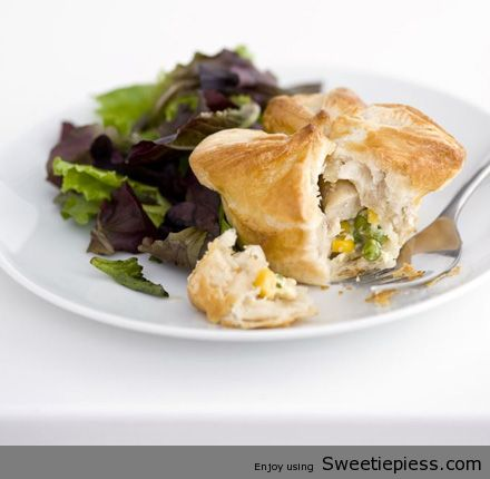 Chicken & sweetcorn pies Recipe