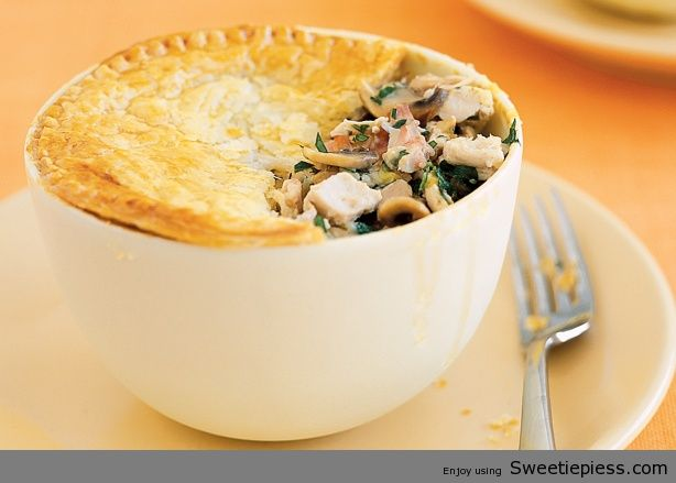 Chicken, Leek and Mushroom Pot Pies By Mr.Tim