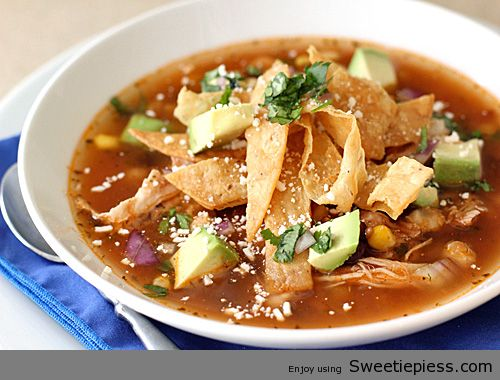 Chicken Tortilla Soup By Miss Robbie