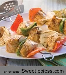 Citrus Herb Chicken and Vegetable Kabobs By Mr.Tim