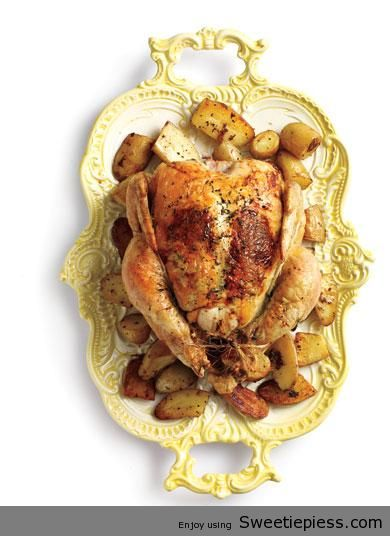 Lemon Thyme Roasted Chicken with Potatoes