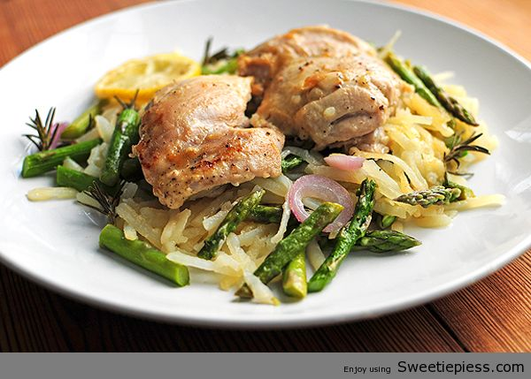 Sweetie Pie's shares Roast Chicken With Spring Vegetables